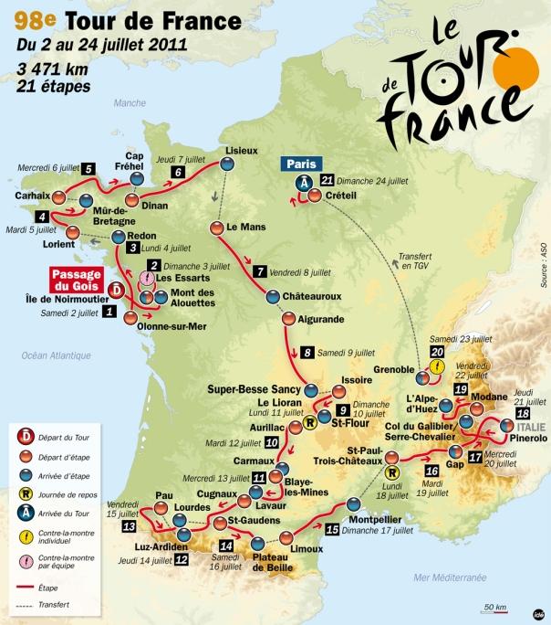 Parcours du Tour de France 2011
